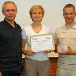 Aqua Lingua komanda, iš kairės: Virginijus Mickus, Rūta Mickienė, Gediminas Sinkevičius.