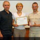 Aqua Lingua team, from the left: Virginijus Mickus, Rūta Mickienė, Gediminas Sinkevičius.