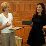 Award moment. From the left: the expert and member of the WSA Ieva Žilionienė, Rūta Mickienė, the coordinator of  the Information Society Development Committee under the Ministry of Transport and Communications Renata Greičiūtė.