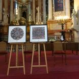 Vadovų klubo dovana nariams – vizualizuoto J.E. Prezidentės sveikinimo paveikslai šv. Jonų bažnyčioje.