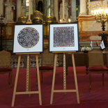 The present for the members of Vadovu klubas – the artworks of visualised congratulations of the President in the St. Johns church.